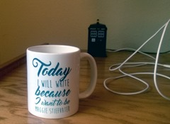 """""""Today I will write because I want to be Maggie Stiefvater."""" Why yes, that is a TARDIS USB hub in the background."""